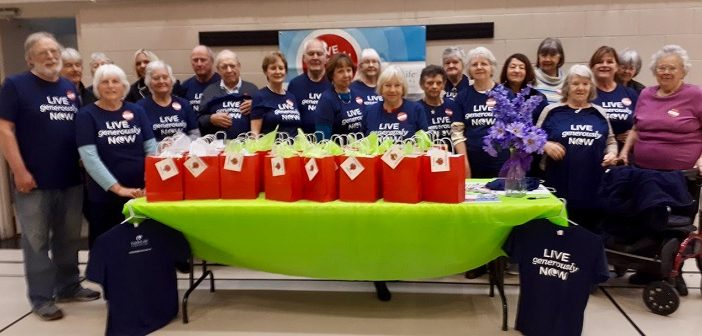 Muskoka Seniors program participants and volunteers recently filled gift bags for hospital patients