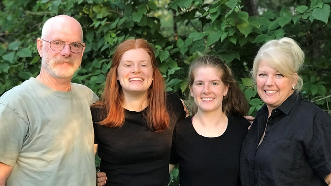 (From left) Ross, Sonya and Samantha Tapley and Annmarie Boehm-Tapley are the force behind Muskoka Mead (supplied)