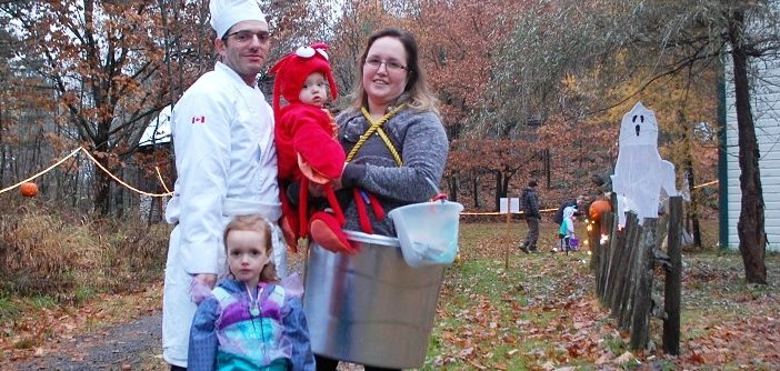 The Botelho family (clockwise from back left) Chris, Finn, Stephanie and Willow at the 2018 Great Pumpkin Trail