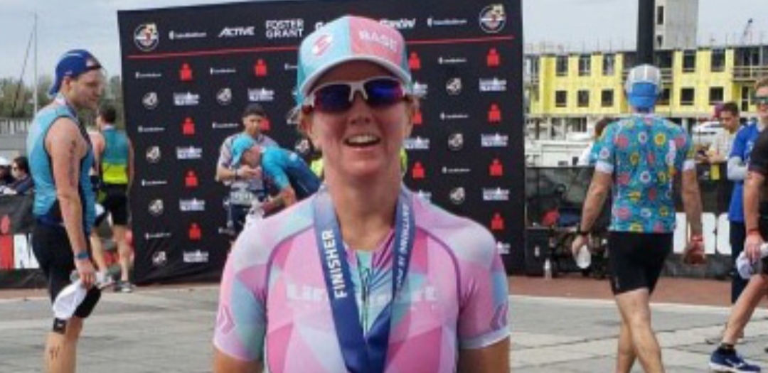 Jess Adam at the Ironman 70.3 North Carolina (courtesy of Jess Adam)