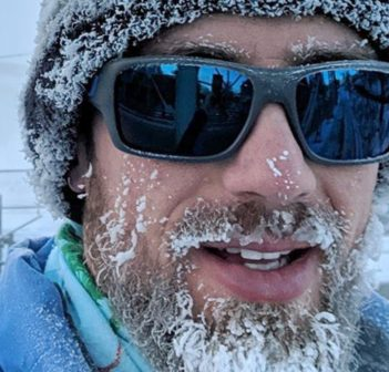 Chad Barber on a frosty training run (Courtesy of Chad Barber)