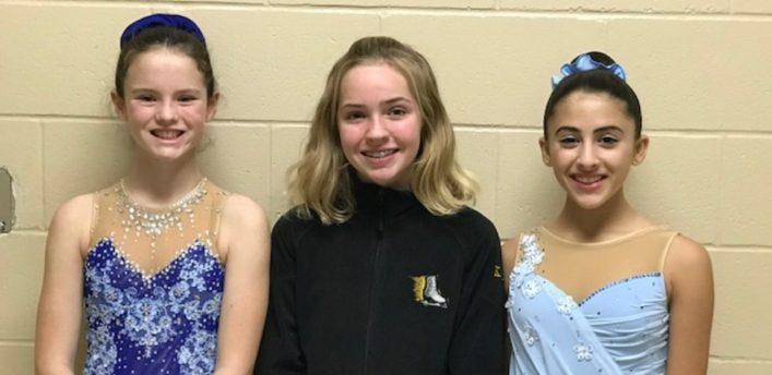 (From left) Ainslie Vallentin, Haley Heap and Sofia Asturi (supplied)