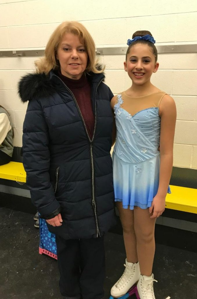 Sofia Asturi with coach Linda Vandertas (supplied)