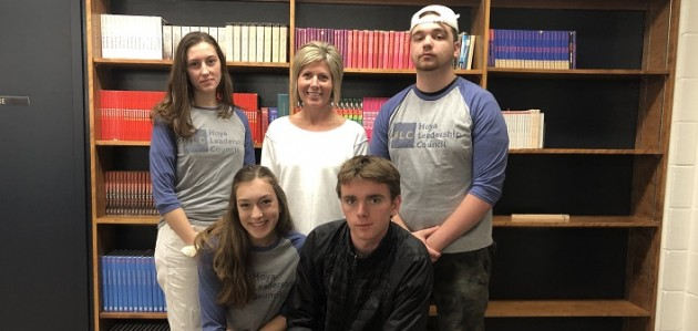 A few of the members of the new Hoya Leadership Council (back from left) Hannah Cassidy, teacher Vanessa Taylor, Luke Murphy; (front from left) Raylene Schultz and Dave Laughton (Sydney Allen)