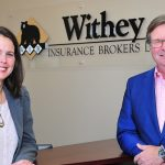 April McClung (left with Tim Withey) is excited to bring Withey Financial Services to Withey Insurance Brokers (supplied)