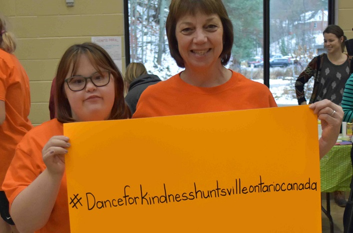 Kelly Miller and Gwen Jones remind everyone to use a hashtag to promote the event (Cheyenne Wood)
