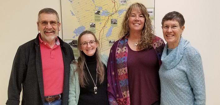 Centre for Mindfulness board members (from left) Bill Knight, Nancy Atkinson-Tiessen, Jiana Cutting and Maureen Shipton (Sydney Allen)