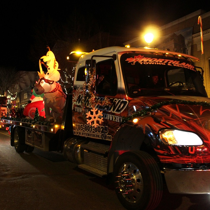 Many local businesses got festive for the parade, including Northland Towing and Recovery