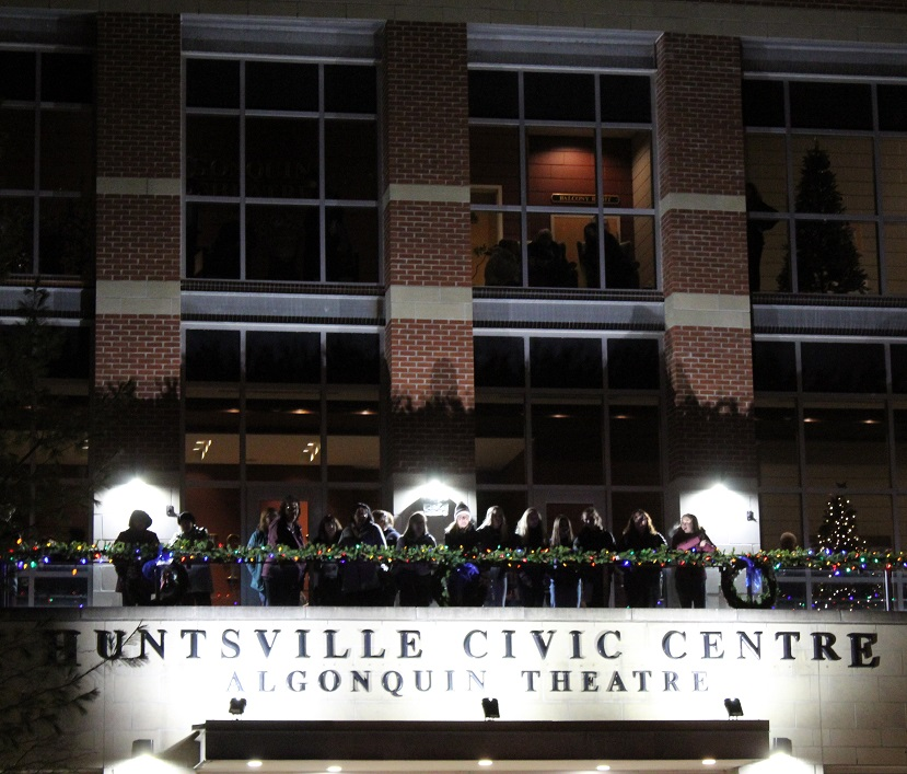 The balcony at the Algonquin Theatre provided a great vantage point for people attending the HHS production of Newsies