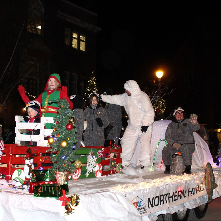 Northern HVAC created a fun winter scene for their float