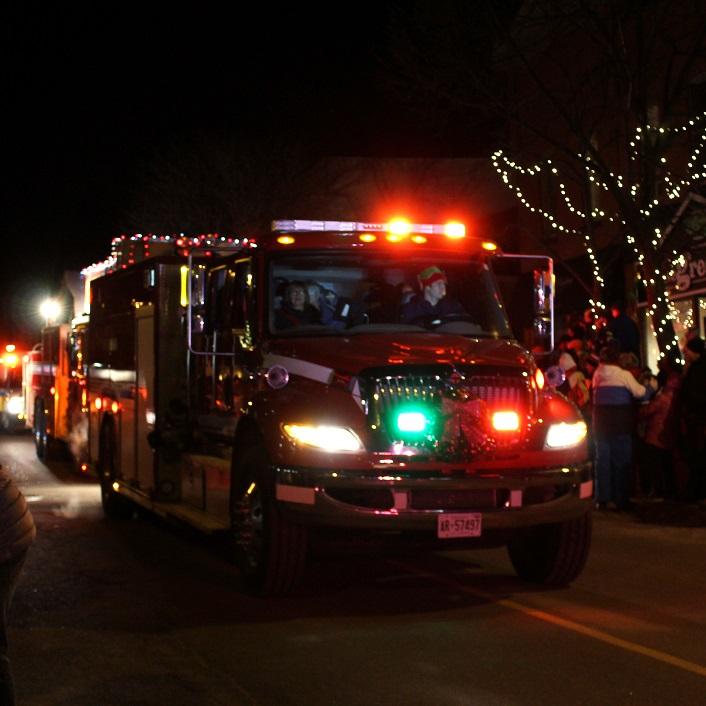Emergency vehicles led the parade