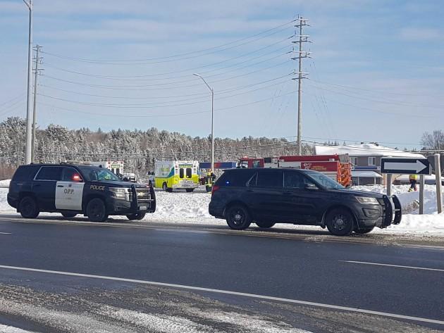 Hwy 11 was closed for several hours on Dec. 6 following a fatal collision (Tamara de la Vega)