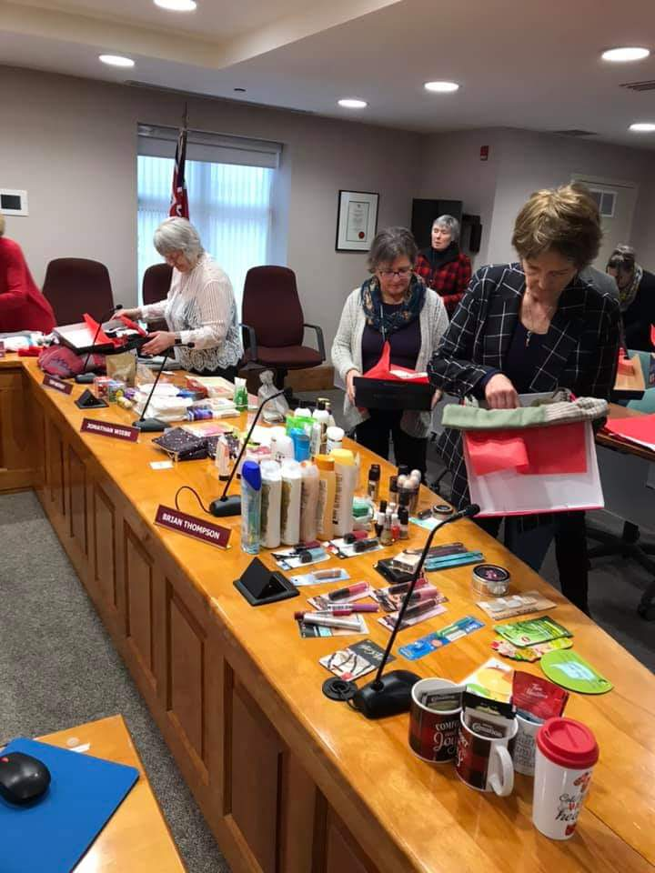 Town of Huntsville staff and counsellors were just one of many groups to fill shoeboxes this year (The Muskoka Shoebox Project / Facebook)