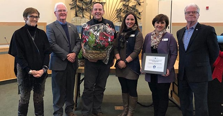 Muskoka Victim Services receives a DoM 2019 Community Services Recognition Award (supplied)