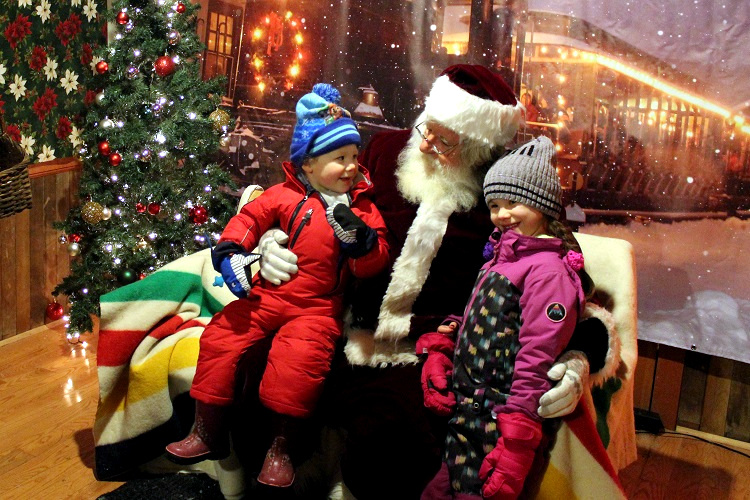 Santa elicited smiles from most of his visitors.