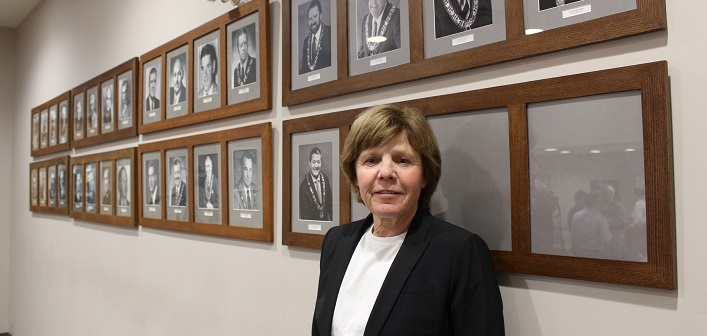 With Mayor Karin Terziano newly declared as the head of Huntsville Council, there will soon be a female face on the mayor's wall in Huntsville's council chambers (Dawn Huddlestone)