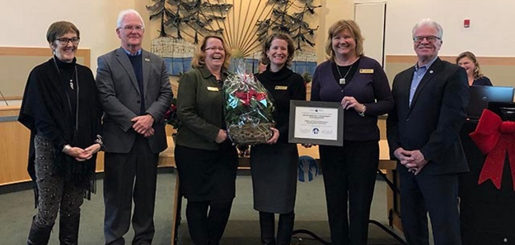 YMCA of Simcoe/Muskoka Employment Services receives a District of Muskoka 2019 Community Services Recognition Award (supplied)