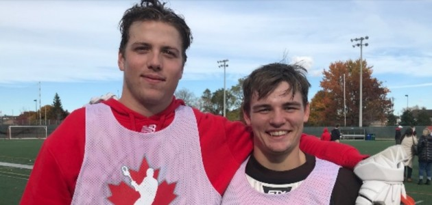 Jason Knox (left) and Caleb Creasor hope to play for Team Canada this year (supplied)