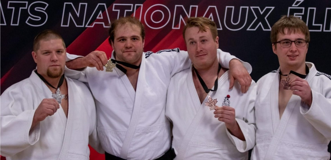 Judo Jeff Allen (left) won silver at the Elite 8 Judo Nationals on Jan. 12 (supplied)