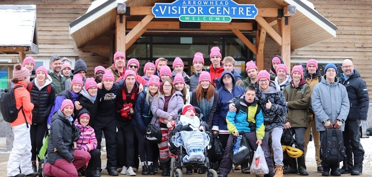 Athletes and volunteers at the 2020 HHS Winter Fest (Group photo (Graeme MacDougall)