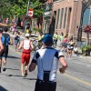 The 2019 Ironman 70.3 Muskoka run course included Main Street (Cheyenne Wood)