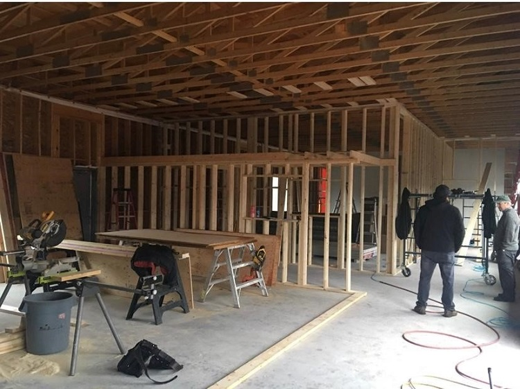 Will and Rob Main built the new JJ Dance studio space on Howland Drive (supplied)