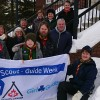 A flag-raising at Town Hall on Feb. 14 honoured Scout-Guide Week (courtesy of Judy Hall)