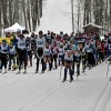 Ready, set...GO! Skiers in the 5km distance begin the 2020 Muskoka Loppet (Cheyenne Wood)