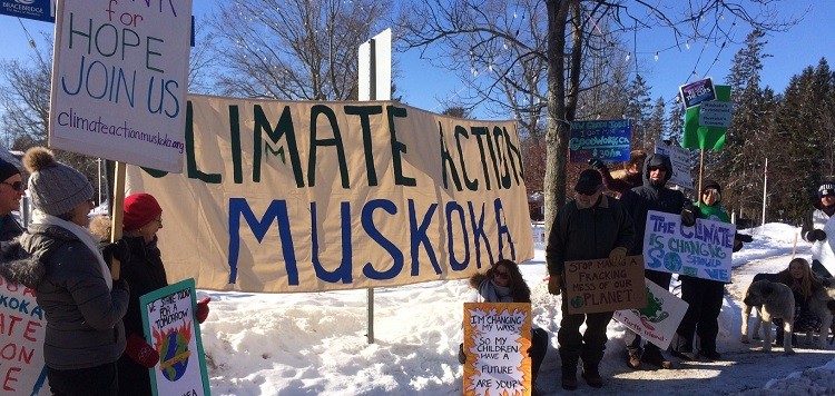 Climate Action Muskoka has been holding Fridays For Future weekly climate strikes in Bracebridge and Gravenhurst, and now Huntsville (submitted)