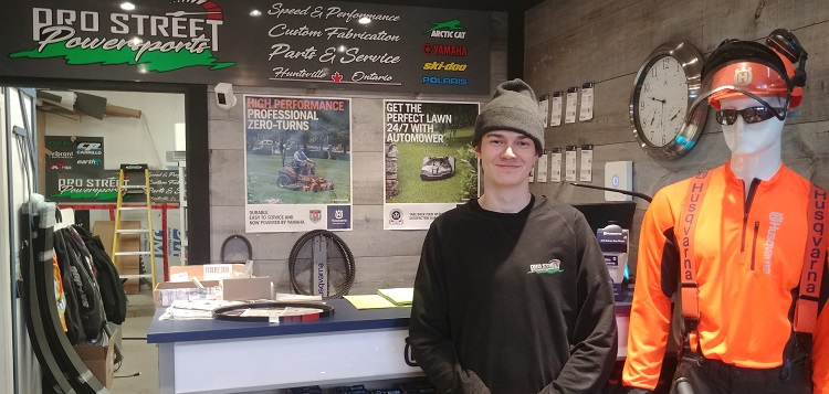 HHS student Matt Vowels landed an apprenticeship at Pro Street Powersports (Jim Milne)