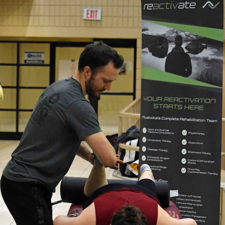 Massage therapist Mark Lewis knows how it feels to compete - he's been to the Canadian Olympic trials for swimming - and what makes tired muscles happy (Cheyenne Wood)