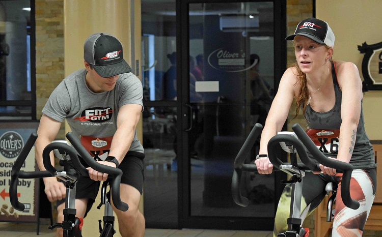 Fitt Gym supplied the stationary bikes for the event (Cheyenne Wood)