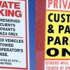 Private parking signs (Ruby Truax)