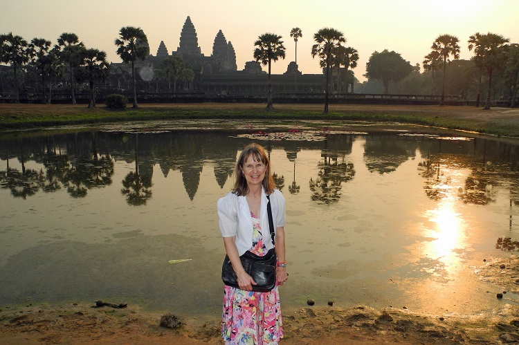 Carol Gibson at Angkor Wat in February 2020 (supplied)