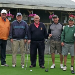 Don McCormick (left) with some of the friends he has maintained for more than 65 years (supplied)