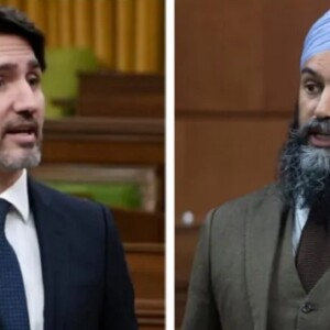 Prime Minister Justin Trudeau and NDP leader Jagmeet Singh (Canadian Press)