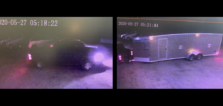 A security camera recorded this trailer theft on May 27, 2020 (supplied)