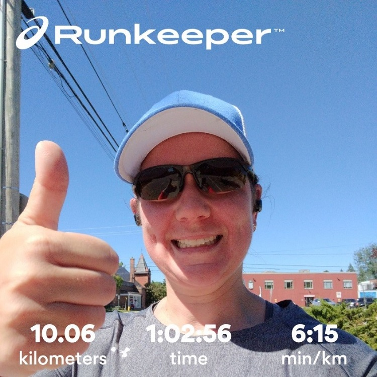 Casey Jogosky has participated in the BOTR four times now but 2020 was her first 10k. Participants could use the Runkeeper app to track their distance and time. (supplied)