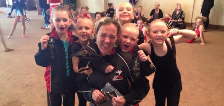 Allison Dalziel with some of her JJ Dance students (supplied)