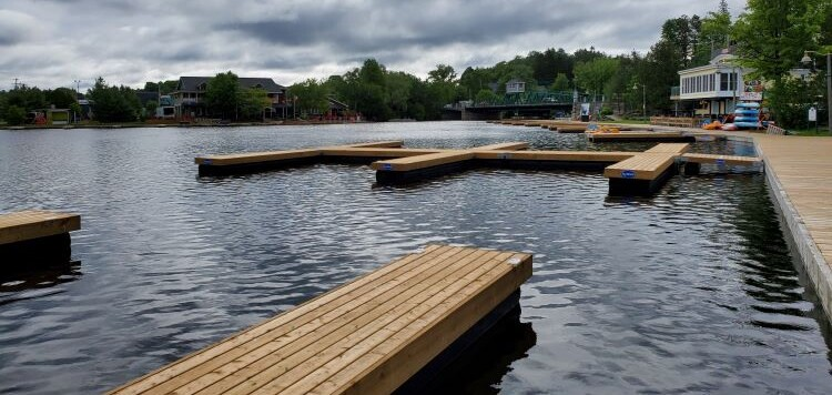 Pipefusion has gifted thousands of dollars in new docks to the Town as part of a larger replacement project (Tamara de la Vega)